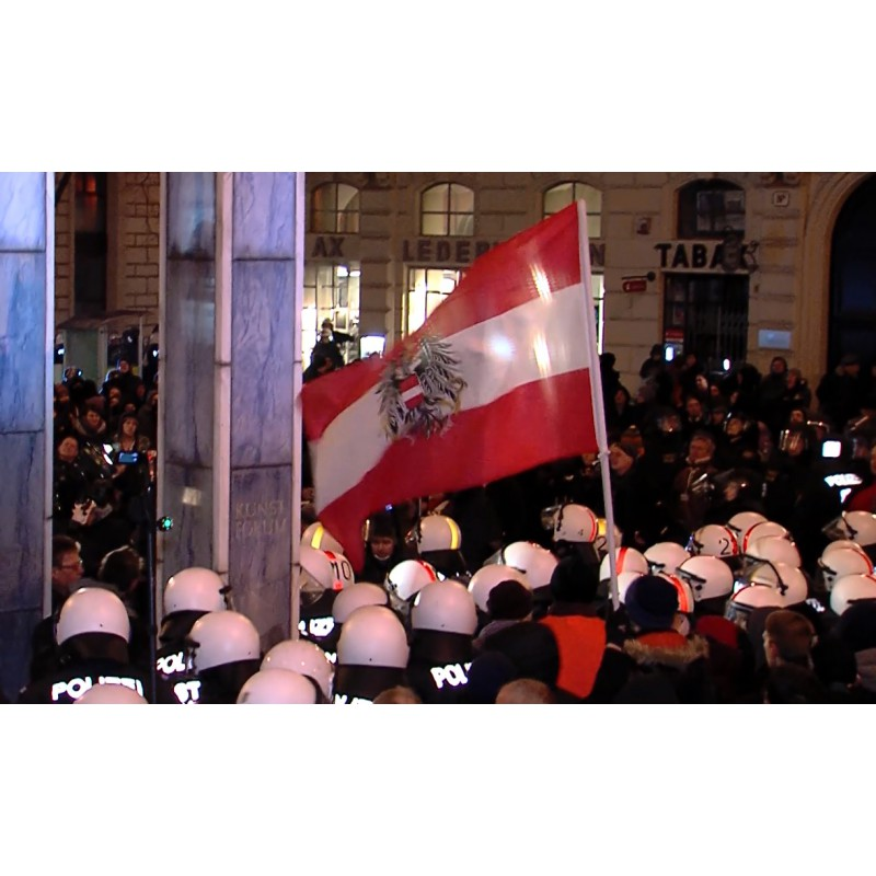 Austria - Vienna - demonstration - Pegida