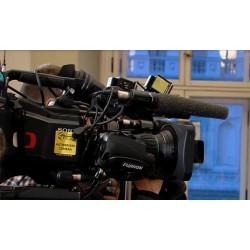 ČR - média - novinář - televizní kamera - fotograf - summit V4