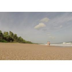 Srí Lanka - pláž - oceán - časosběr - originální délka