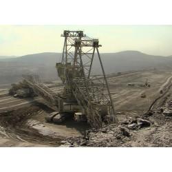 ČR - technologie - průmysl - těžba - důl - rypadlo - časosběr - originální délka