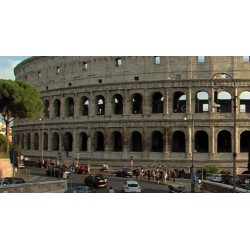 Itálie - ŘÍm - doprava - památky - historie - časosběr - Koloseum - zrychleno 500x