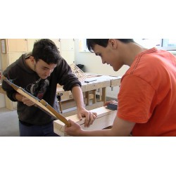 CR - education - industry - vocational school - joiner - lathe - saw - hammer - wood