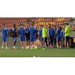 ČR - fotbal - Slovan Bratislava - trénink - trenéři