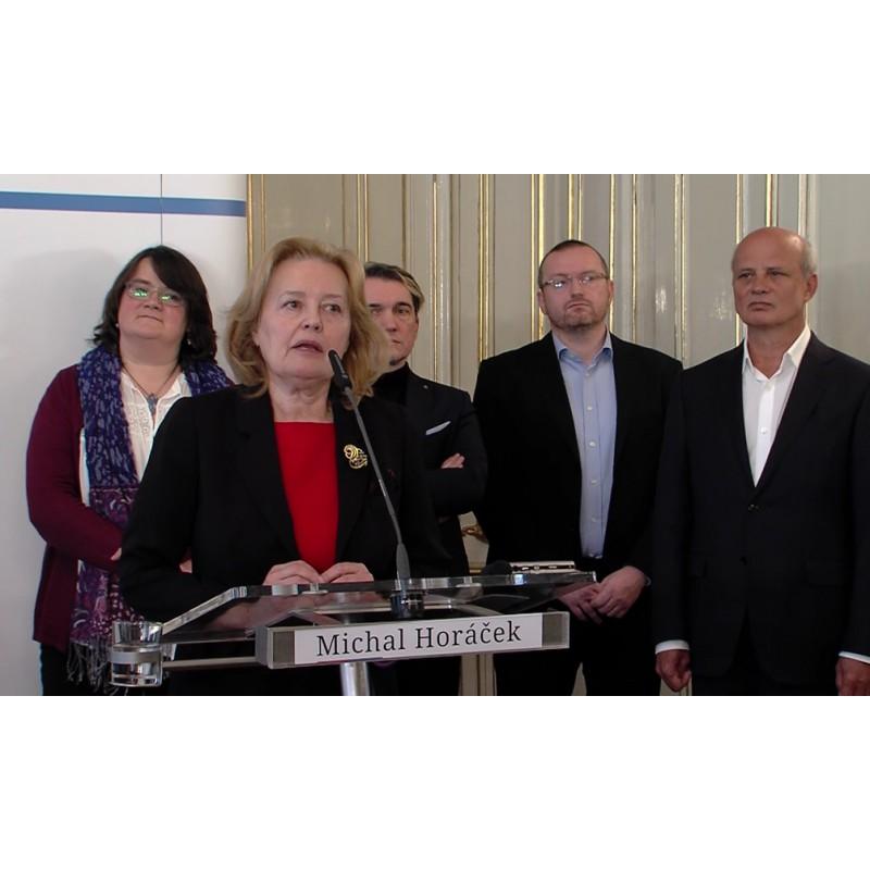 news - CR - people - politics - Magda Vášáryová - advisor - press conference