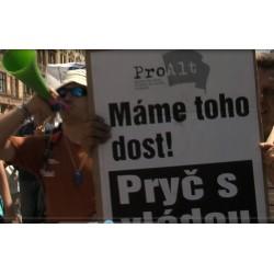ČR - demonstrace - odboráři - Jaroslav Zavadil