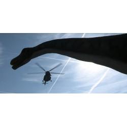 ČR - Praha - vrtulník - přeprava materiálu - dinosauři