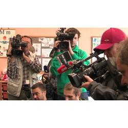 ČR - Praha - média - volby - novináři - kamera - fotograf