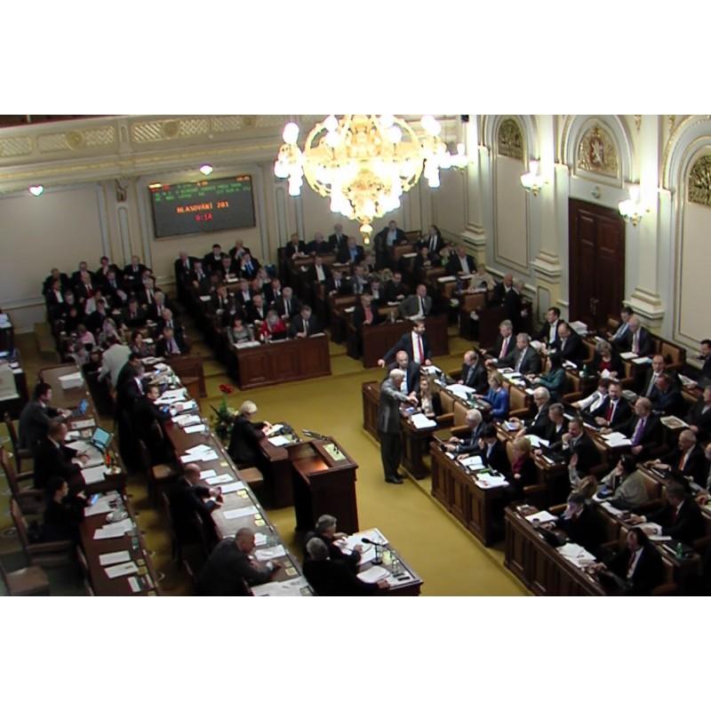 CR - Prague - politics - Chamber of deputies - 2017 - voting - monitor