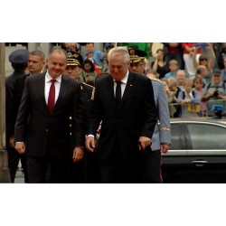 CR - SR - Presidents - Mioš Zeman - Andrej Kiska - Prague Castle