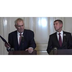 Aktualita - ČR - politika - Lány - prezident - Miloš Zeman - Andrej Babiš - jmenování