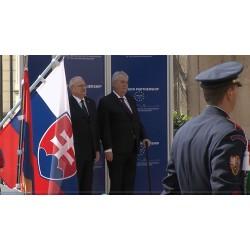 CR - SR - Presidents - Miloš Zeman - Ivan Gasparovič - 2