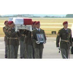 CR - Prague - news - army - NATO - soldier - Afghanistan - Bagram - funeral - respect