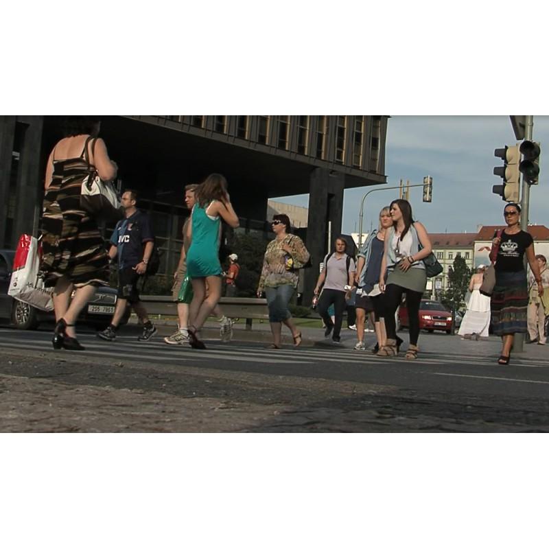 CR - People - Prague - Wenceslas Square - Trams - Pedestrian Crossings