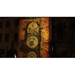 ČR - Praha - orloj - videomaping 3