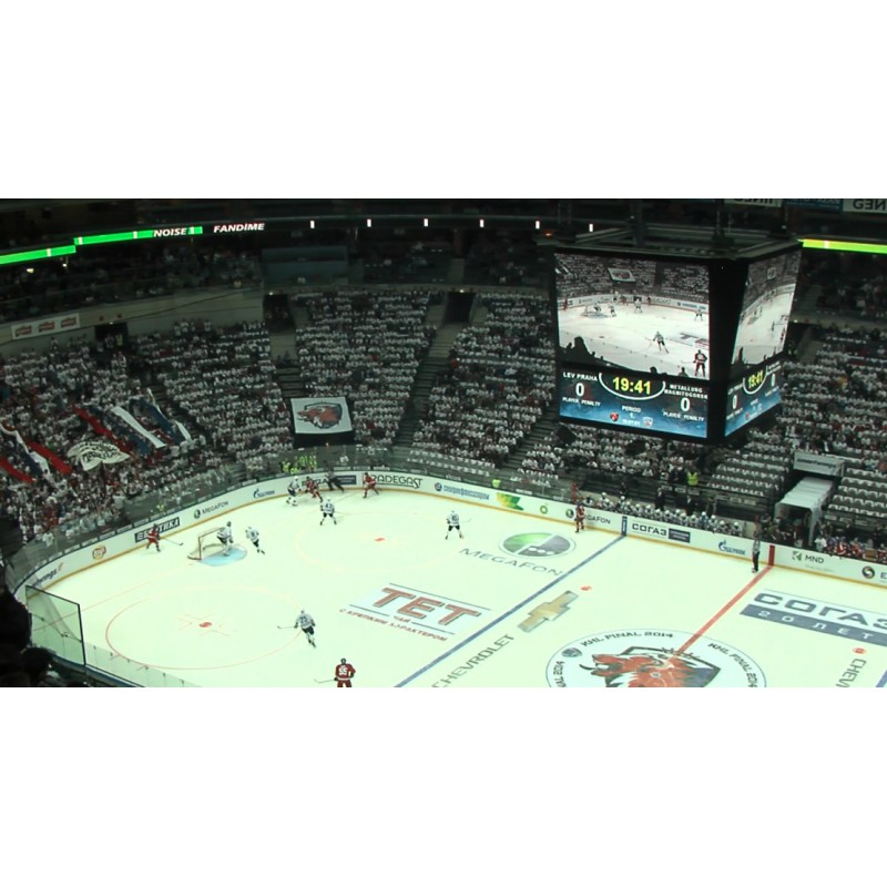Hockey - KHL - Prague 2014 - Magnitogorsk - Fans - Chanting - Mexican Wave