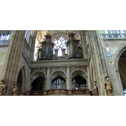 CR - Prague - St. Vitus Cathedral - new organ 1 - holders of the keys to the crown jewels