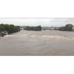 CR - Prague - Central Bohemia - flood - Vltava river