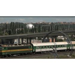 ČR - Praha - doprava - silnice - vlaky - tramvaje - Libeňský most