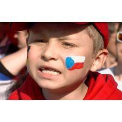 Hokej - Praha - mistrovství světa 2015 - ČR-SRN - fanzóna - dětský fanoušek