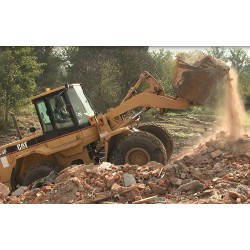 CR - demolition - excavator - caterpillar - rubble