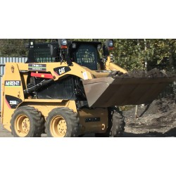 CR - smaller digger - caterpillar - soil loading