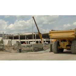 ČR - hala - stavba - stavební stroje