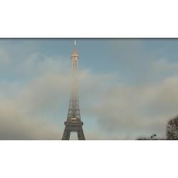 Francie - Paříž - Eiffelova věž - časosběr - originální délka