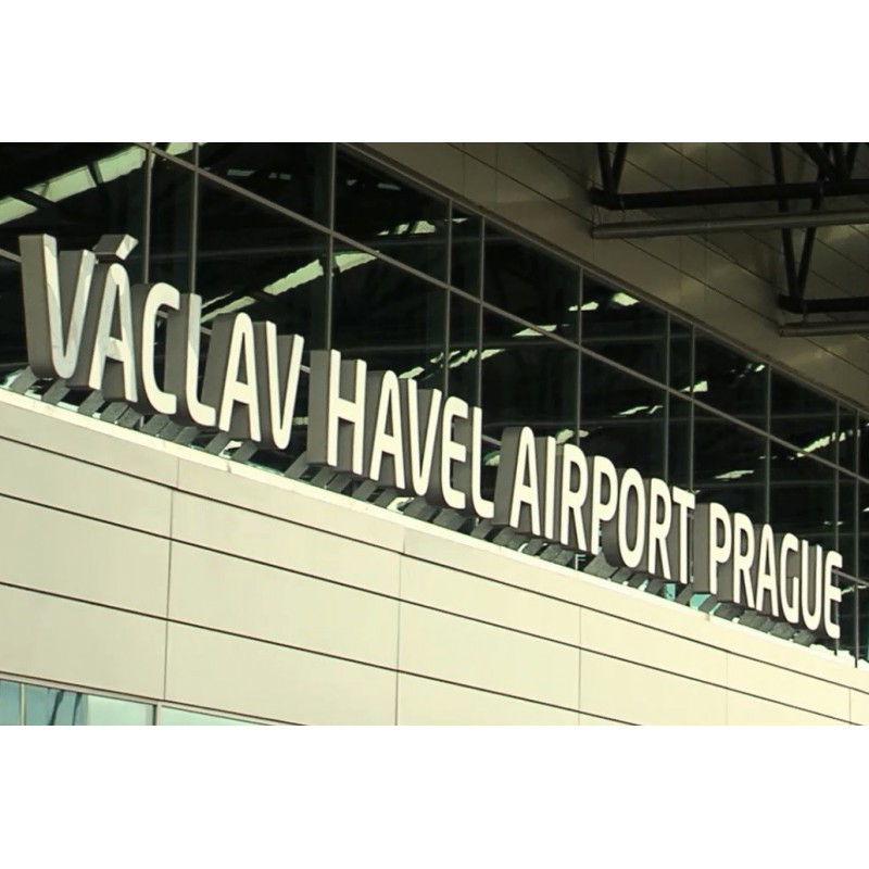 CR - Prague - Airport Vaclav Havel - Dagmar Havel - renaming the airport