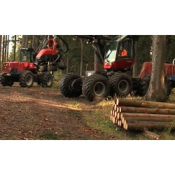 CR - Krkonoše Mountain - forestry - cutting down - trees - heavy machinery