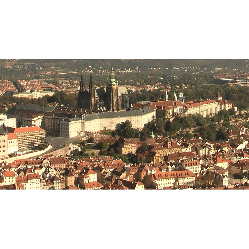 CR - Prague - Petřín - observatorium - view - Lesser Town - St. Nicholas church