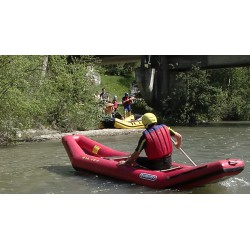 paddlers - boat - river - raft - lifejacket
