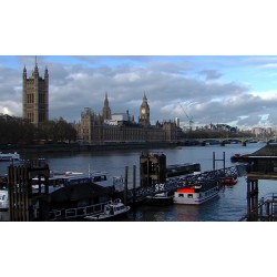 Great Britain - London - Westminster  - time-lapse - 1000x faster