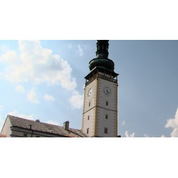 CR - Litovel - clock tower - sky - time-lapse - 1000x faster