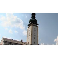 ČR - Litovel - věžní hodiny - obloha - časosběr - 1000x zrychleno