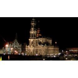 SRN - Drážďany - Dresden - město - noc